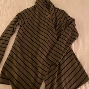 Brown and black stripe sweater